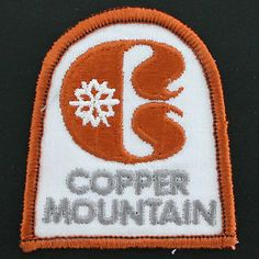 vintage ski patch copper