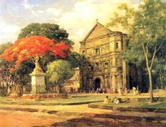 """A few of the paintings of Fernando Amorsolo y Cueto the """"Grand Old Man of Philippine Art"""" is believed to have created over work of art. Filipino Art, Filipino Culture, Munier, Philippine Art, Cubism, Beautiful Paintings, Impressionism, Spanish, Fine Art"""