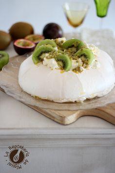 Pavlova de Kiwis y Fruta de la Pasión