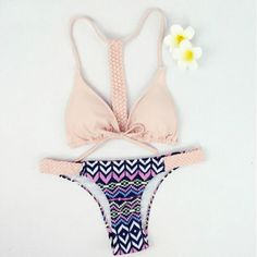 Twisted Strap Women Swimwear Bikini Set   Daisy Dress for Less   Women's Dresses & Accessories