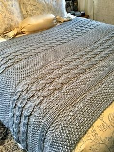 Motifs Afghans, Knitted Afghans, Afghan Patterns, Knitted Blankets, Crochet Blanket Patterns, Baby Blanket Crochet, Knitting Patterns Free, Crochet Stitches, Crochet Baby