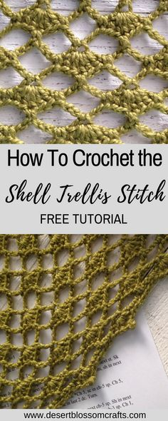 Learn how to crochet the shell trellis stitch pattern, an easy and beautiful lace crochet stitch! Learn how to crochet the shell trellis stitch pattern, an easy and beautiful lace crochet stitch! Beau Crochet, Poncho Au Crochet, Stitch Crochet, Tunisian Crochet, Learn To Crochet, Lace Knitting, Crochet Motif, Free Crochet, Things To Crochet