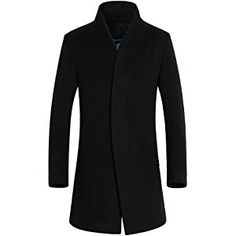 Letskeep New Winter woolen long peacoat men slim fit casual thick overcoat mens warm Windbreaker trench coat Jackets, Oh just take a look at this! Winter Trench Coat, Long Trench Coat, Winter Overcoat, Winter Coats, Long Overcoat, Warm Coat, Men's Coats And Jackets, Long Jackets, Outerwear Jackets