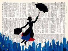 Mary Poppins print.