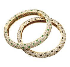FD GALLERY   Van Cleef & Arpels   A Pair of Multi-Gem and Diamond Bangle Bracelets