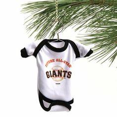 San Francisco Giants Baby Shirt Ornament - White