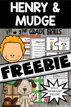 Henry and Mudge Journeys Activities, Worksheets and Centers for Grade. This is a 104 page free resource. Library Lessons, Reading Lessons, Reading Strategies, Reading Activities, Literacy Activities, Guided Reading, Teaching Reading, Reading Comprehension, Teaching Ideas