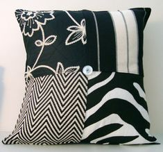 A personal favorite from my Etsy shop https://www.etsy.com/listing/183483474/sale-black-white-modern-designer-pillow