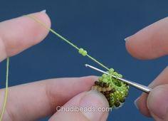 Chudibeads.com: Crochet bead necklace tutorial step 10