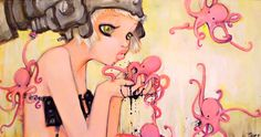 so cute .... http://www.camilladerrico.com/art-camilla-derrico-gallery-painting/oil-2/little-pink-ink-monsters.html