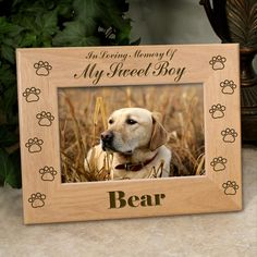 Dog Memorial Frame - Personalized Pet Gifts. $21.95, via Etsy.