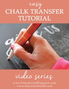 DIY Video Tutorial for perfect chalkboard lettering - this is SO easy!