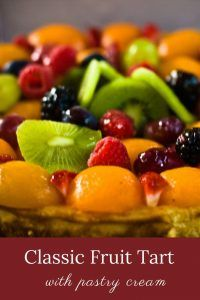 Classic Fruit Tart with Pastry Cream -- just use whatever fruit is in season