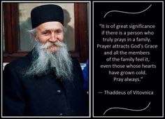 Thaddeus of Vitovnica on Prayers of a Family Member