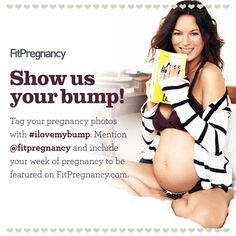 We want to see your baby bump! Pin a photo of your pregnant self.  Be sure to mention @Fit Pregnancy