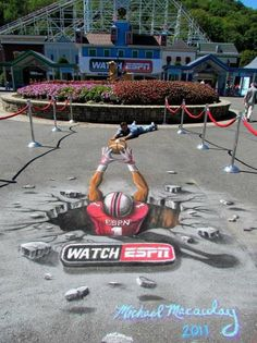 Ball pass - Copyright Michael Macaulay, ESPN 3D Street Art                                                                                    |AmazingStreetArt|