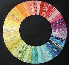color wheel quilt by jacquie at tallgrass prairie studio