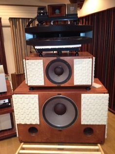 Wood Horn (1971:Yamaha) with JBL2450H   Listening Room (Sohno-san / Tokyo)