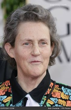 """Temple Grandin.. A beautiful and couragous woman. Born with autism she became an  American doctor of animal science and professor at Colorado State University, bestselling author, autistic activist, and consultant to the livestock industry on animal behavior. She also created the """"hug box"""", a device to calm autistic children."""