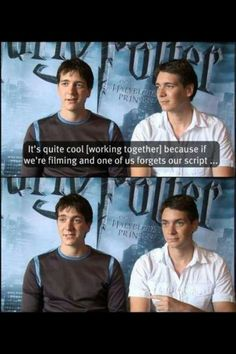 Harry Potter Quotes Fred And George Funny Weasley Twins Ideas For 2020 Harry Potter Interviews, Harry Potter Puns, Harry Potter Cast, Harry Potter Universal, Harry Potter World, Fandoms, Must Be A Weasley, Auryn, Jokes