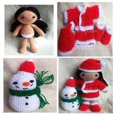 The little girl called Joy. She wear red dress the same as Santa lina.    Crochet skill level: Easy/ Intermediate. Requires knowledge of basic
