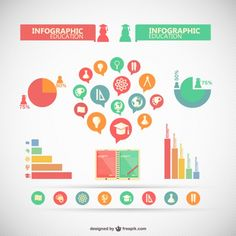 Infographic collection of elements Free Vector
