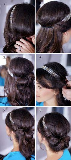 Banded Chignon.    -   #feminine   #hair   #hairstyle