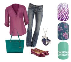 A fashion look from September 2015 featuring v-neck shirt, khaki jeans and ballerina flats. Browse and shop related looks. Jamberry Nails Tips, Jamberry Fall, Jamberry Combos, Jamberry Nails Consultant, Jamberry Party, Jamberry Nail Wraps, Jamberry Outfits, Jamberry Games, Jamberry Style
