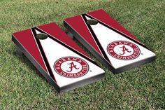Alabama Crimson Tide Cornhole Game Set Triangle Version