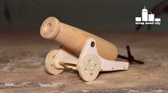 scrap wood city: How to make a mini wooden toy canon