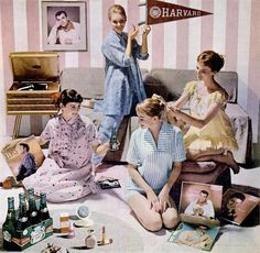 U.S. let's have a pajama party, 1957 | Flickr by Captain Geoffrey Spalding