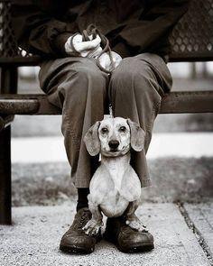 Sitting on my daddy's feet...