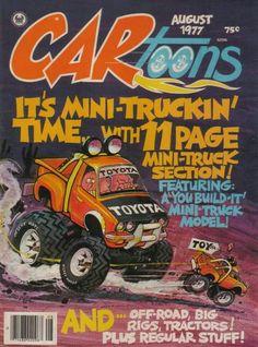 Same kind of weirdo art. Cartoon Car Drawing, Cartoon Rat, Cartoon Sketches, Cartoon Styles, Mini Trucks, Old Trucks, Custom Paint Jobs, Custom Cars, Ed Roth Art