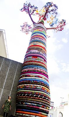 Cozy Sweater for Mega Monolithic Tree Yarn Bomb