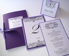Nice. @Cassie Blue Invitations, Table #s, Menu, and Place Card all match.