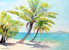 Coconut Palms and Ibises web.jpg (131101 bytes)
