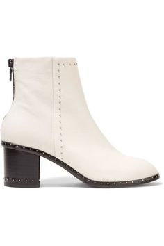 RAG & BONE Willow Studded Leather Ankle Boots. #ragbone #shoes #boots