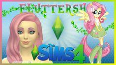 Los Sims 4: Creando Personajes| Fluttershy | My Little Pony Inspiración ...