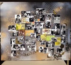 Canvas of years gone by photos of the boys Wow chipboard