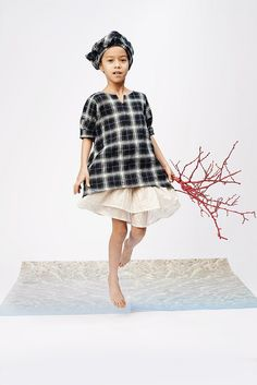 You could achieve a similar look with the Pinwheel Dress and Swingset Skirt
