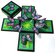 """Butterfly magic box that """"explodes"""" when opened... I am in awe of this woman"""