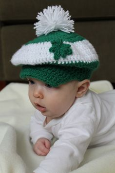 St. Patrick's Day golf hat for baby