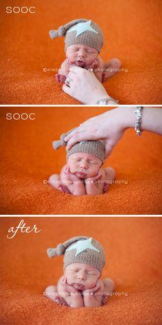 how to do composite newborn pose
