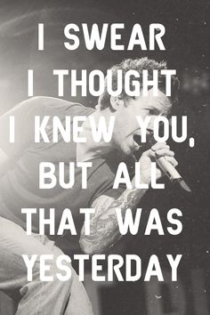 Simple Plan ❤  This song is half about me, half about others....if that makes sense