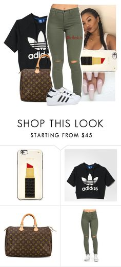 """""""babyy don't get it twisted"""" by trillest-k ❤ liked on Polyvore featuring Kate Spade, adidas and Louis Vuitton"""