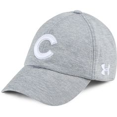 innovative design 2aa44 29f35 Chicago Cubs Women s Grey Twisted Renegade Cap by Under Armour