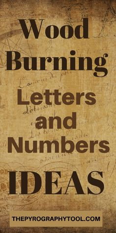 Find ideas on how to burn letters and numbers onto your wood burning project. Whether you are a beginner or and advanced burner - lettering presents a variety of challenges. Choosing the right solution for your skill level and design is crucial. Wood Burning Tips, Wood Burning Techniques, Wood Burning Crafts, Wood Burning Patterns, Wood Burning Projects, Cool Woodworking Projects, Diy Wood Projects, Woodworking Tools, Wood Crafts