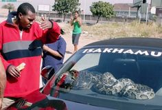 The ultimate security system for your car — A Burmese Python   I'm pretty sure this car will be found just as the owners left it when they return…