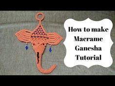 How to make macrame ganesha   Full Video step by step   Macrame Art - YouTube