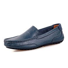 a385fe545b30 Men Leather Pure Color Lazy Slip On Flat Driving Loafers - NewChic Mobile.